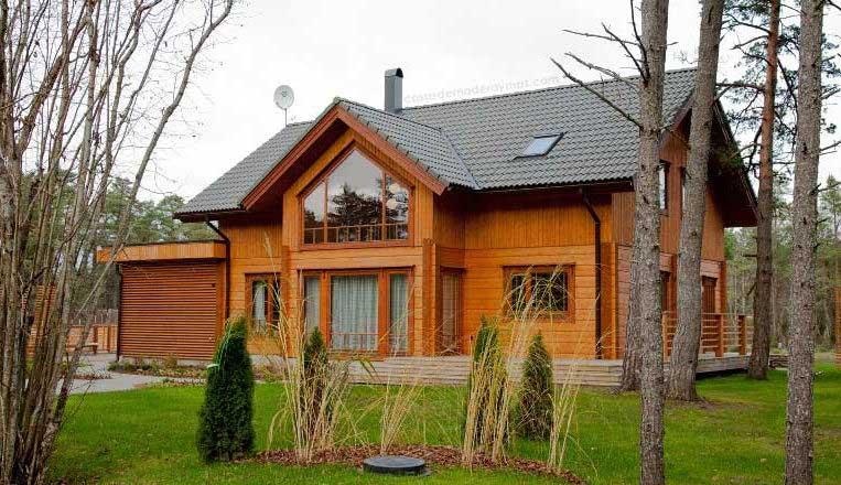 Construcci n sostenible casas de madera forestal maderero - Construcciones de casas de madera ...