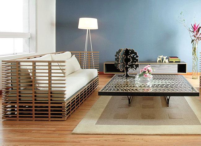 Los interioristas exploran el maridaje de la madera - Muebles tipo banak ...