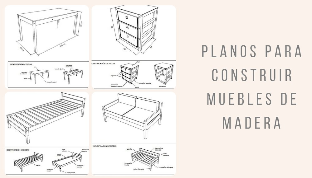 H galo usted mismo planos para construir muebles de for Mueble que se convierte en mesa