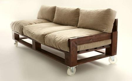 Muebles en madera reciclada a partir de estibas Muebles hechos con estibas