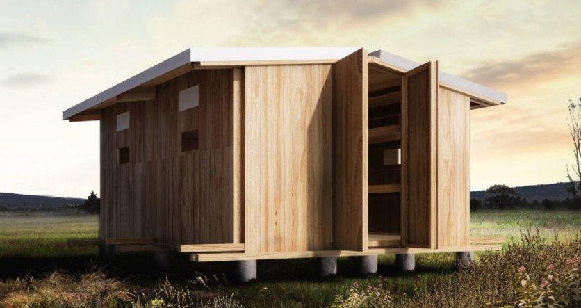 Iniciativa de viviendas de emergencia en madera para for Viviendas en madera