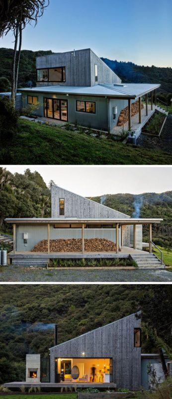 Casa rural en nueva zelanda con un dise o minimalista al - Casa rural diseno ...