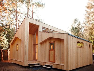 Casa de madera para vivir
